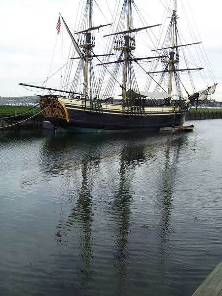 The Friendship is at berth in Salem, Massachusetts