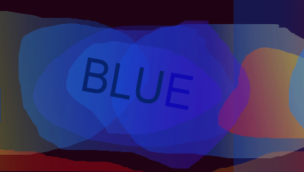 Blue in graphic design