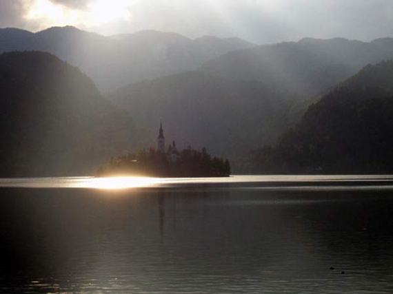 This church is located in the middle of lake Bled in Slovenia
