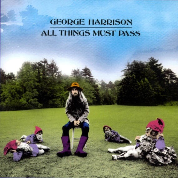 George Harrison on the cover of his album