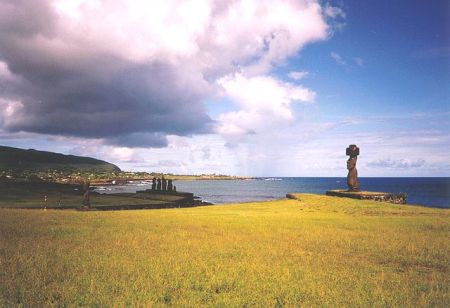 sculpture on Easter Island