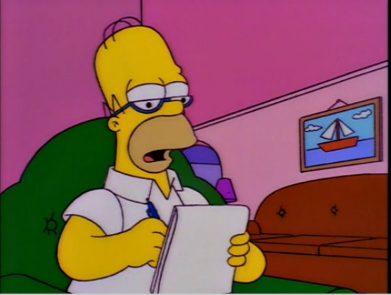 Homer writing