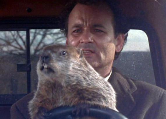 scene from the movie, Groundhog Day
