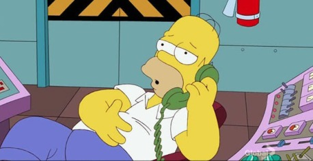 homer on the phone